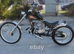 Ensemble Complet De Vélo Moteur 2-temps 80cc Gaz Essence Motorisé Vélo Kit Moteur Cycline