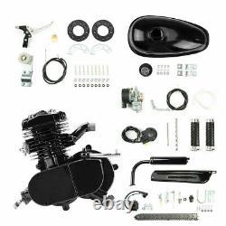 Full 80cc 2-stroke Essence Moteur Kit Moteur Pour Vélo Motorisé Noir