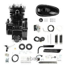 Full Set 80cc 2-stroke Petrol Gas Motor Engine Kit For Motorized Bicycle Bike