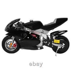 Gas Power Pocket Bike Moto 49cc Moteur 4 Temps Pour Les Enfants Et Les Adolescents Black