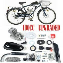 Kit Complet De Vélo De Vélo De 100cc Motorized 2 Stroke Essence Moteur Jeu Noir