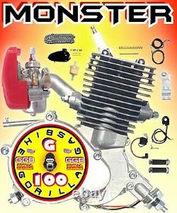 Kit De Vélo Motorisé 80cc/100cc 2 Temps Pour Les Kits De Moteur De Vélo Monster Power