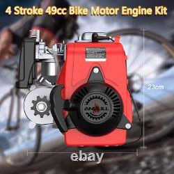 Kit Moteur De Vélo De 49cc 4-stroke Motorisé Essence Moteur Cycle Us