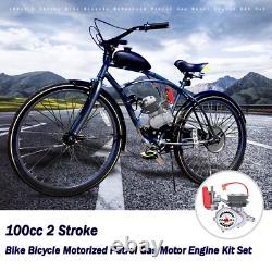 Kit Moteur De Vélo De Vélo De Moteur 100cc 2stroke Gas Motorized Bike Modifié Full Set