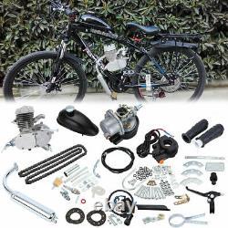 Kit Moteur Moteur À Gaz 50cc Bike 2 Stroke Bricolage Pour Cycle De Vélo Motorisé Argent