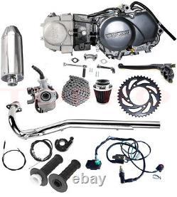 Lifan 125cc Engine Motor Kit Parts 4 Stroke Manual For Dirt Pit Bike Ssr Xr50 70