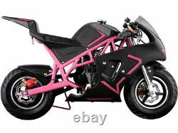Mini Moteur De Moto De Moto De Poche À Essence 40cc 4-stroke Enfants Et Adolescents Rose