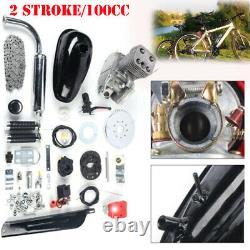 Moteur 100cc 2 Stroke Motor Kit Essence Gaz Vélo Motorisé Noir Mis À Jour