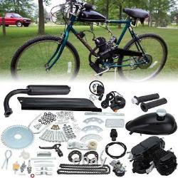 Moteur 80cc 2 Stroke Motor Kit Petrol Gas Motorized Bicycle Black Upgraded