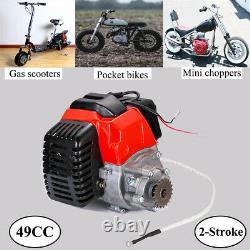 Moteur De Démarrage De Traction 2 Temps Pour Le Moteur De Vélo De Poche Mini De Scooter D'essence 49cc