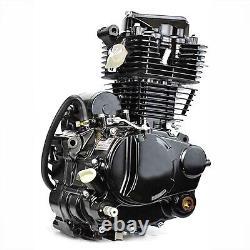 Moteur De Moto De 350cc Refroidi À L'eau Cylindre Monocylindre 4 Coup De Pied De Moteur