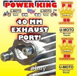 Moteur De Moto Motorisé 2 Temps Haute Performance Power 66cc/80cc Uniquement Pour Les Kits