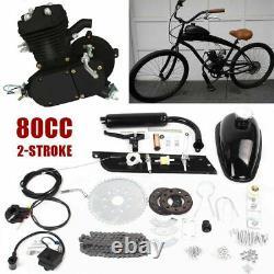Moto 2-temps De Gaz Essence Motorisé Vélo Moteur Kit Bricolage Noir