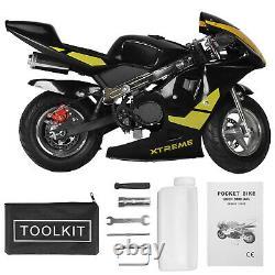 Motorcycle De Moto De Poche De Puissance De Gaz 49cc 2-stroke Moteur Pour Les Enfants Et Les Adolescents Us
