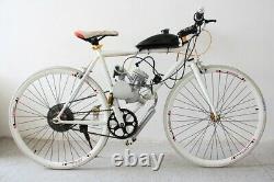 Nouveau 2 Stroke 49cc 50cc Bicycle Petrol Gas Motorized Engine Bike Motor Kit Silver