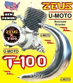 Nouveau Moteur Moto Motorisé 2 Temps 80cc/100cc Uniquement Pour Kits Moped Scooter