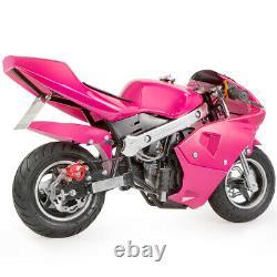 Pocket Bike Kids 40cc 4-stroke Mini Bike Gas Motor Epa Engine Superbike -rose