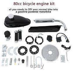 Red 80cc Bike 2 Stroke Gas Engine Motor Kit Motorcycle Moto Motorisé