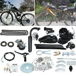 Ridgeyard 2 Stroke 50cc Vélo Essence Essence Moteur Moteur Moteur Moto Kit Noir