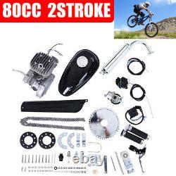 Silver 2 Stroke 80cc Vélo Motorisé Vélo Cycle Essence Moteur Moteur
