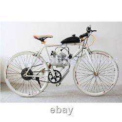 Silver Motorized Bike Petrol 80cc 2-stroke Essence Moteur De Cycle De Vélo Kit
