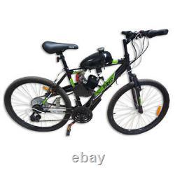Upgraded 2 Stroke 80cc Motorized Bicycle Gas Engine Motor Kit Full Set Push Bike