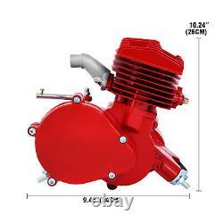 Vélo 2 Stroke 80cc Bricolage Essence Essence Moteur Moteur Moto Kit Rouge