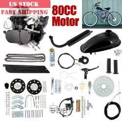 Vélo De Vélo 80cc Motorized 2 Stroke Essence Moteur Kit Moteur Ensemble Complet Noir