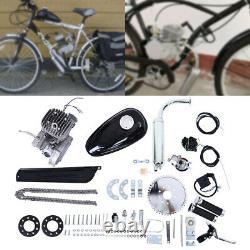 Vélo De Vélo 80cc Motorized 2 Stroke Essence Moteur Kit Scooter Argent