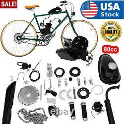 Vélo De Vélo 80cc Motorized 2 Stroke Essence Moteur Moteur Kit Complet Us