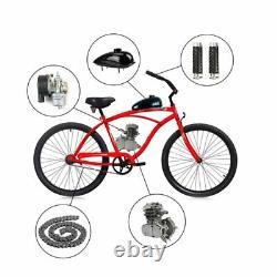 Vélo De Vélo De 80cc Motorized 2 Stroke Essence Bricolage Moteur Moteur Kit Argent
