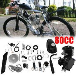 Vélo De Vélo De 80cc Motorized 2 Stroke Essence Bricolage Moteur Moteur Kit Noir
