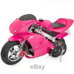 Vélo Mini 4 Temps De Pocket Bike Enfants Gaz Moteur Epa Moteur Superbike -pink