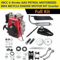 Vente Hot 4-stroke Essence Kit Moteur Moteur 49cc Vélo De Vélo 50cc Motorisé